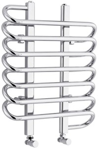 Hudson Reed Finesse Twisted Towel Radiator. 610x500 (Chrome).