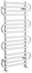 Hudson Reed Finesse Twisted Towel Radiator. 900x510 (Chrome).