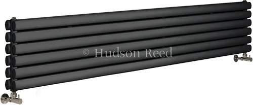 Hudson Reed Radiators Revive Radiator (Anthracite). 1800x354mm. 5786 BTU.