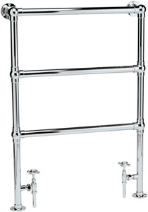 HR Traditional Countess heated towel rail (chrome). 660x940mm. 864 BTU