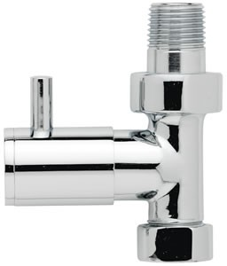 Towel Rails Straight minimalist radiator valves (pair)