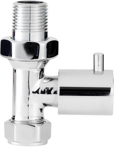 Towel Rails Economy Minimalist Straight Radiator Valves (Pair).