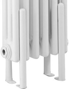 Ultra Colosseum 4 x Floor Mounting Radiator Legs (White).