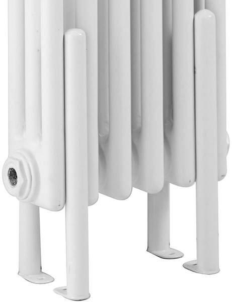 Hudson Reed Colosseum 4 x Floor Mounting Radiator Legs (White).