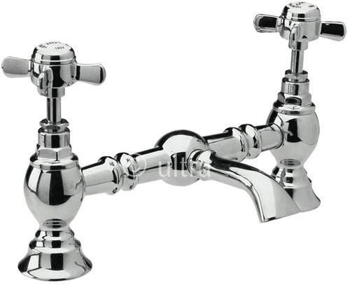 Ultra Beaumont Luxury 200mm Bridged Basin Mixer (Chrome)