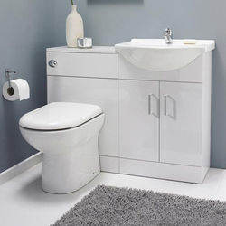 Italia Furniture Vanity Pack With Pan & Square Basin 1050mm (RH, White).