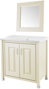 Old London Furniture 800mm Vanity & 600mm Mirror Pack (Ivory).