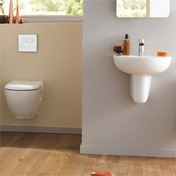 Ultra Jardine Wall Mounted Toilet With Seat, Basin & Semi Pedestal.