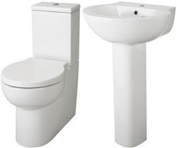 Hudson Reed Ceramics 4 Piece Bathroom Suite With Toilet & Basin.