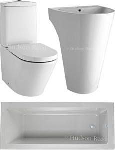 Hudson Reed Suites Bathroom Suite With Toilet, Basin & Bath (1800x800).