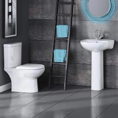 Premier Lawton Bathroom Suite With Toilet, 550mm Basin & Pedestal.