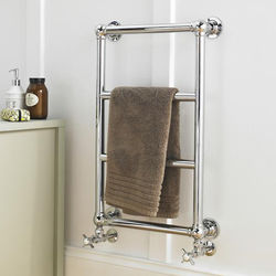 HR Traditional Epsom Traditional Towel Radiator H748 x W498 (Chrome).