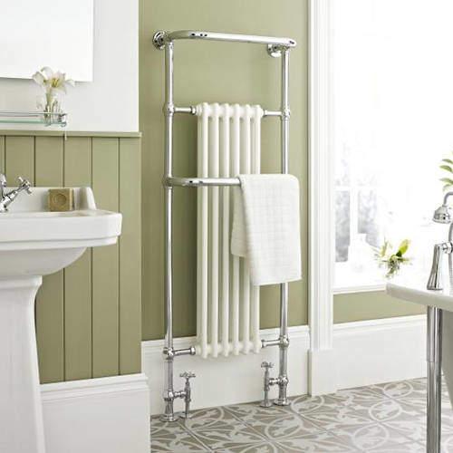 HR Traditional Brampton Traditional Towel Radiator H1500 x W575 (Chrome).