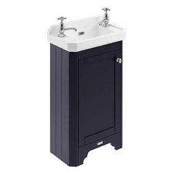 Old London Furniture Cloakroom Vanity Unit With Basins 515mm (Blue, 2TH).