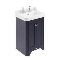 Old London Furniture Vanity Unit With Basins 595mm (Blue, 2TH).