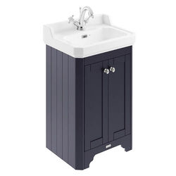 Old London Furniture Vanity Unit With Basins 560mm (Blue, 1TH).