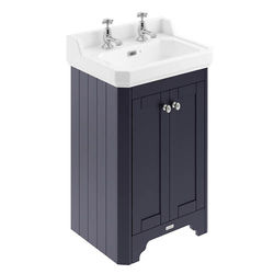 Old London Furniture Vanity Unit With Basins 560mm (Blue, 2TH).