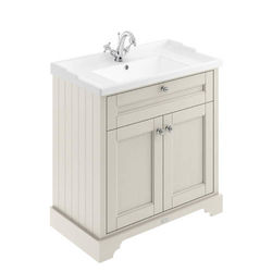 Old London Furniture Vanity Unit With Basins 800mm (Sand, 1TH).