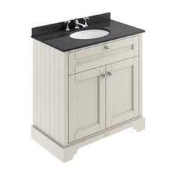 Old London Furniture Vanity Unit, Basin & Black Marble 800mm (Sand, 3TH).