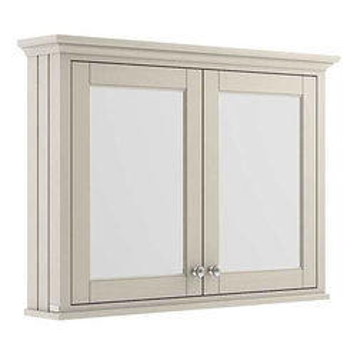 Old London Furniture Mirror Bathroom Cabinet 1050mm (Timeless Sand).