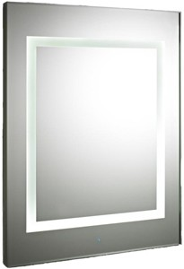 Premier Mirrors Level Touch Sensor LED Mirror, De-Mister Pad (600x800).