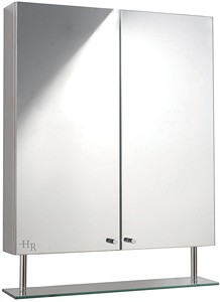 Hudson Reed Dakota stainless steel mirror bathroom cabinet. 600mm.