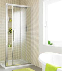 Premier Enclosures Apex Sliding Shower Door With 8mm Glass (1100mm).