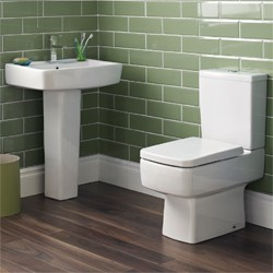 Ultra Mercury Short Projection Toilet, 520mm Basin, Full Pedestal & Seat.