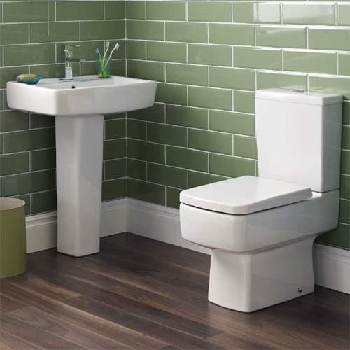Ultra Mercury Short Projection Toilet, 600mm Basin, Full Pedestal & Seat.