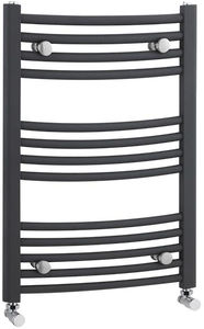 Crown Radiators Curved Ladder Towel Radiator (Anthracite). 700x500mm.