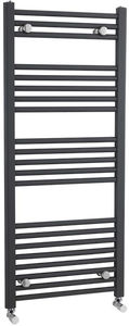 Crown Radiators Straight Ladder Towel Radiator (Anthracite). 1150x500mm.