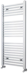 Crown Radiators Square Ladder Towel Radiator (Chrome). 1200x500mm.