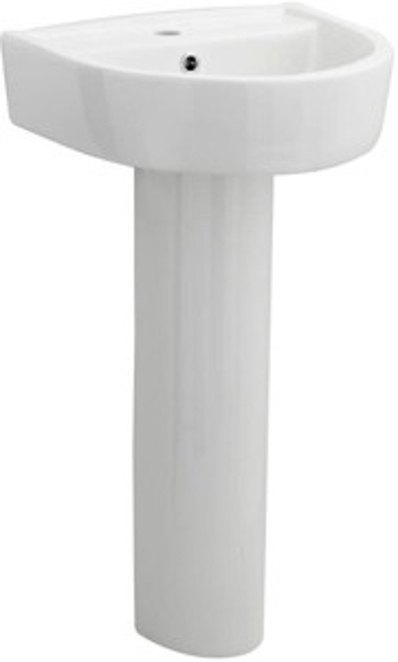 Premier Ceramics Basin & Full Pedestal (1 Tap Hole, 420mm).