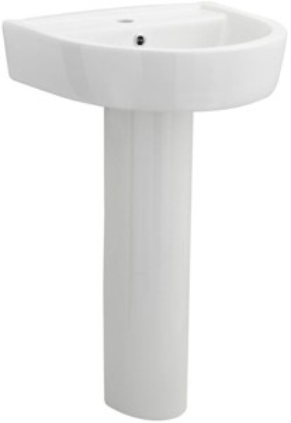 Premier Ceramics Basin & Full Pedestal (1 Tap Hole, 520mm).