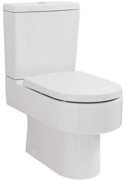 Premier Ceramics Semi Flush To Wall Toilet Pan With Cistern & Luxury Seat.