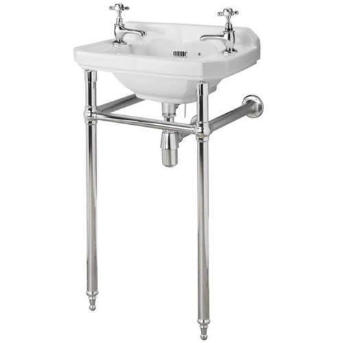 Premier Carlton Traditional Washstand & Cloakroom Basin (2 Hole).