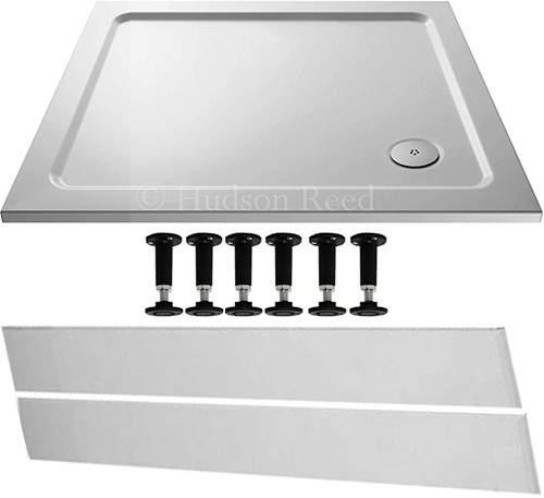 Crown Trays Easy Plumb Rectangular Shower Tray. 1000x900x40mm.
