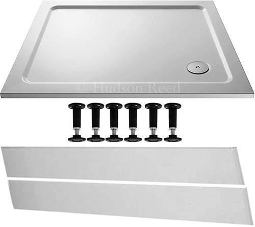 Crown Trays Easy Plumb Rectangular Shower Tray. 1100x760x40mm.