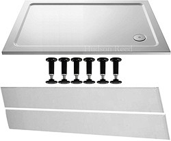 Crown Trays Easy Plumb Rectangular Shower Tray. 1200x800x45mm.