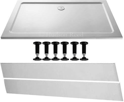 Crown Trays Easy Plumb Rectangular Shower Tray. 1600x800x40mm.