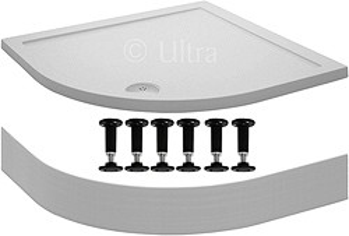 Crown Trays Easy Plumb Quadrant Shower Tray. 900x900x40mm.