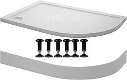 Crown Trays Easy Plumb Offset Quad Shower Tray. 1000x800x40mm (RH).