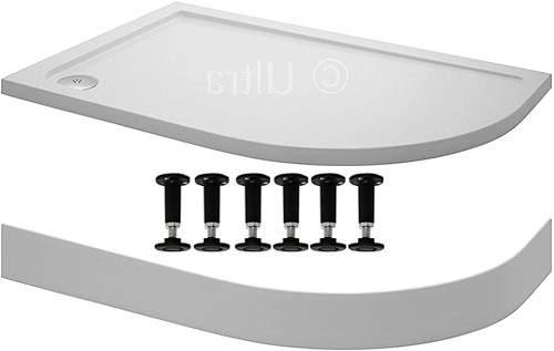 Crown Trays Easy Plumb Offset Quad Shower Tray. 1200x800x40mm (RH).