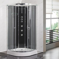 Premier Enclosures Quadrant Shower Cabin 900x900mm (Black).