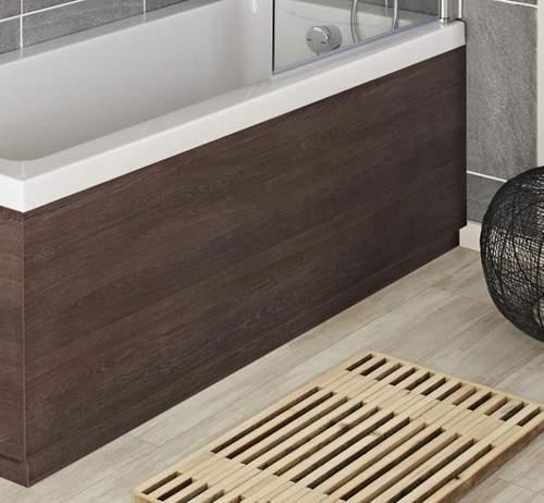 Hudson Reed Horizon 1700mm Side Bath Panel & Plinth (Mid Sawn Oak).