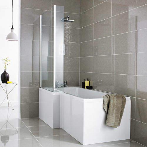Premier Baths Square Shower Bath With Panels & Screen (LH).