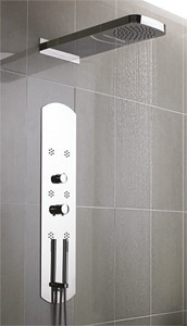 Hudson Reed Dream Shower Recessed Shower Panel With Waterfall Head.