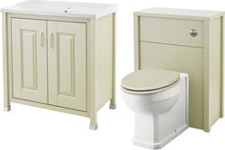Old London Furniture 800mm Vanity & 600mm WC Unit Pack (Pistachio).