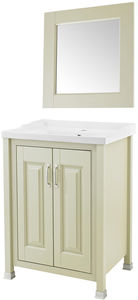 Old London Furniture 600mm Vanity & 600mm Mirror Pack (Pistachio).