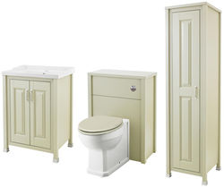 Old London Furniture 600mm Vanity, 600mm WC & Tall Unit Pack (Pistachio).